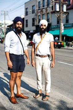 MenStyle1- Men's Style Blog  Rocking the preppy turban AND the little belt dagger. Cool and dangerous!