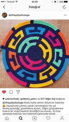 Elements of The Perfect - İnstegram hesabım İpinHayalYolculuğu sayfama davetlisiniz - Photo Design Mochila Crochet, Crochet Tote, Crochet Purses, Crochet Chart, Knit Crochet, Tapestry Crochet Patterns, Willow Weaving, Tapestry Bag, Knitted Bags