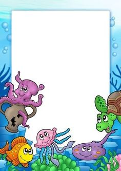 * Kader: Zee! Borders For Paper, Borders And Frames, Farm Animal Coloring Pages, Underwater Theme, School Frame, Cute Frames, Page Borders, Cute Little Boys, Creative Lettering