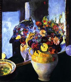 bofransson: Flowers in a Yellow Vase Arthur B. Yellow Vase, Famous Artists, Impressionism, Flower Art, Artsy, Presents, Watercolor, Illustration, Floral