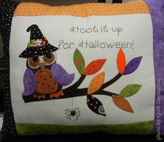 Hoot It Up for Halloween, design by Ronene Wilkinson at Oh My Bloomin Threads, seen at Corn Wagon Quilt Co.