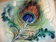 rich water color. justinelimpushpar... peacock feather