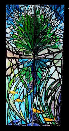 I wanna do stained glass...  Tree in dalle de verre style