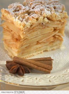 : Time for apple pie apple pie . Pastry Recipes, Cake Recipes, Dessert Recipes, Cooking Recipes, Cooking Time, Dessert Drinks, Dessert Bars, Polish Recipes, Polish Food