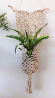 Image result for boho macrame plant hanger weaving tutorial