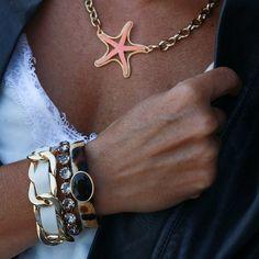 Moja po prostu. Bransoletka z szarymi kryształami - CALEIDOSCOPIO - Kate&Kate Contemporary Classic, Contemporary Design, Tan Skin, Stylish, Celebrities, Sunsets, Bracelets, Gold, Inspiration