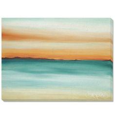 """David Bromstad painting — """"Dusk"""" orange/teal"""