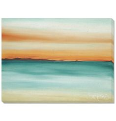 "David Bromstad's ""Dusk"" artwork brings a color-rich sunset to your wall."