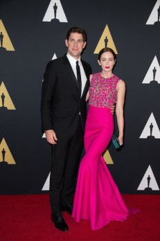 John Krasinski (left) and Emily Blunt attend the 6th Annual Governors Awards in The Ray Dolby Ballroom  See more photos here: http://www.redcarpetreporttv.com/2014/11/10/its-official-awards-season-has-started-the-academys-2014-governors-awards-honors-harry-belafonte-maureen-ohara-hayao-miyazaki-and-jean-claude-carriere-theacademy-governorsawards-photos/