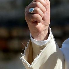 One of my colleagues shared this photo of the Pope's frayed sleeve with me and I found it deeply moving.  It says a lot about the man and his priorities.