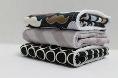 BagEnvy Handbags'  Burp Cloths   Set Of 3  Dapper Dude  by BagEnvy, $21.00