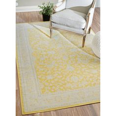 nuLOOM Traditional Modern Indoor/ Outdoor Yellow Porch Rug (7'8 x 10'3) - Overstock Shopping - Great Deals on Nuloom 7x9 - 10x14 Rugs
