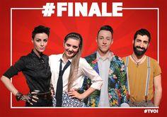 I quattro finalisti di The Voice of Italy: Thomas Cheval, Roberta Carrese, Carola Campagna, Fabio Curto. The Voice un talent show alla deriva
