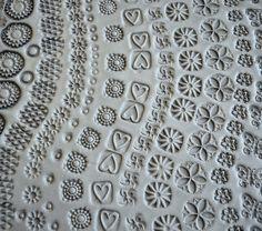 Handgefertigte Ton Briefmarken für Keramik Polymer PMC