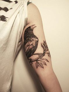 Placement of crow tattoo