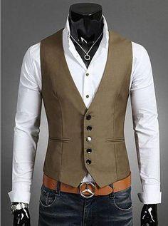 Plus Size Mens Dress Vests For Man Suit Sleeveless Male For Vest Waistcoat Designs Wedding Dresses Blazer Coat Vest - Suits Terno Casual, Traje Casual, Casual Suit, Casual Blazer, Dress Casual, Casual Tops, Casual Wear, Casual Outfits, Mens Suit Vest