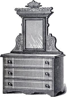 Antique Dresser Clip Art