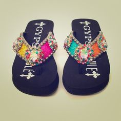 fe2ca94ec Gypsy Soule flip flops!! Swarovski Crystal!!! Little devil by Gypsy Soule