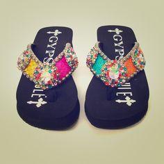 11f767096034 Gypsy Soule flip flops!! Swarovski Crystal!!! Little devil by Gypsy Soule