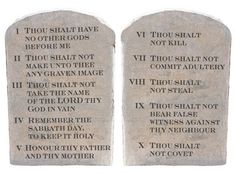 Ten Commandments  Will you post these? Let's see how many weak kneed assholes get offended.