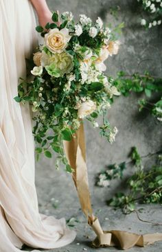 Bridal bouquet and textures // Bows and Arrows: