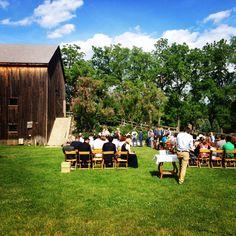 Cobblestone Farm wedding ceremony