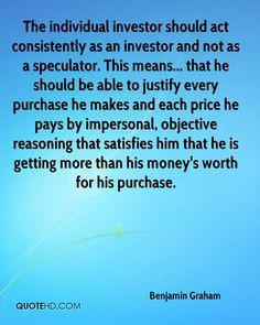 from Benjamin Graham, Warren Buffett's mentor