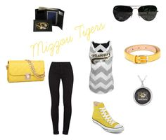 """Mizzou Spirit"" by kregi800 ❤ liked on Polyvore featuring J Brand, Converse, Dolce&Gabbana, Ray-Ban and tigers"