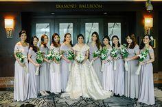 A Filipiniana-Themed Wedding in A University Modern Filipiniana Gown, Filipiniana Wedding Theme, Grey Bridesmaids, Bridesmaid Dresses, Perfect Wedding Dress, Dream Wedding, Bridal Gowns, Wedding Gowns, Filipino Wedding