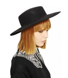 ee98bbc7869 Vivetta Rabbit Fur Felt Wide-Brim Hat    This hat was made for selfies