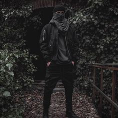 outfit styled for / ph Street Goth, Street Wear, Street Style, Urban Fashion, Mens Fashion, Fashion Outfits, Goth Ninja, Guy Drawing, Grunge Outfits