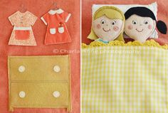 little dolls and carrying case