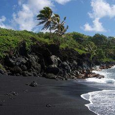 Black Sand Beach - Maui, Hawaii