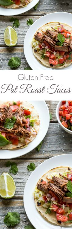 Healthy Recipes : Illustration Description These are the BEST Gluten Free Pot Roast Tacos I've tried, SO delicious! If you've never made a pot roast before then this is the one for you – really! Best Gluten Free Bread, Gluten Free Recipes, Healthy Recipes, Healthy Options, Yummy Recipes, Slow Cooker Recipes, Crockpot Recipes, Cooking Recipes, Cookbook Recipes