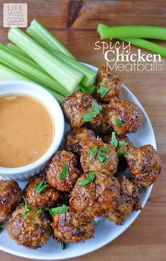 Life Tastes Good: Spicy Chicken Meatballs