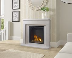 Learn more about the new Paragon Gas Fire. Fireplace Art, Living Room With Fireplace, Fireplace Surrounds, Fireplace Ideas, Electric Fires Uk, Gas Fires And Surrounds, Contemporary Fireplace Designs, New Room, Interior Decorating