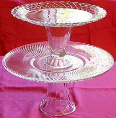 Parfait glass + glass plate = cake stand