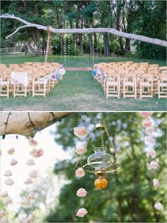 wedding ceremony decor #ceremonyideas #weddingchicks http://www.weddingchicks.com/2013/12/19/funky-farm-wedding/