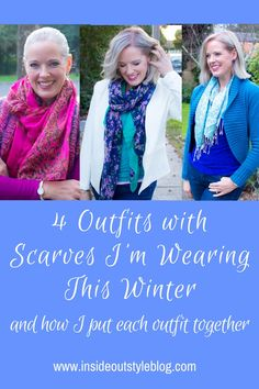 Scarves are a great way to add interest, colour and pattern to your outfit. Steal outfit ideas from these examples as you add a scarf to your winter outfits