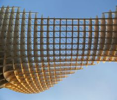 The Metropol Parasol by J. MAYER H. Architects & Arup. Sevilla.  +3000 free-formed timber elements. Polyurethane-coated laminated veneer lumber Kerto-Q panels.