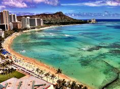 Waikiki     - I took this shot with my iPhone from the balcony of our Sheraton hotel room. Pretty cool, huh?