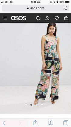 87c1cbf4b265 Asos Postcard Print Wide Leg Jumpsuit Uk 14  fashion  clothing  shoes   accessories  womensclothing  jumpsuitsrompers (ebay link)