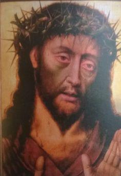 """PINTURA ::: Soportes - Ecce Homo, 1555 - LUIS MORALES """"el divino"""" - De los metales el más famoso EL COBRE de las técnicas EL ÓLEO. Para pintar se imprima primero con albayalde"""
