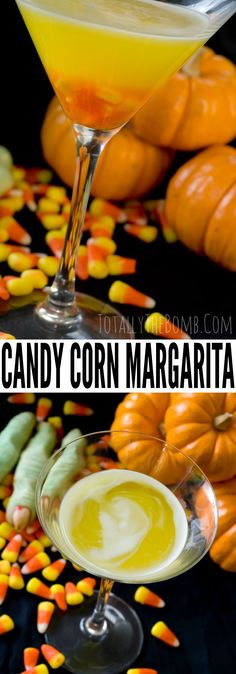 Candy Corn Apple Pucker Margarita ~ Halloween Drink Recipe - Candy Corn Margaritas are the only margaritas I crave this time of year. Click now! Halloween Cocktails, Easy Cocktails, Halloween Snacks, Cocktail Recipes, Halloween Party, Easy Drink Recipes, Yummy Drinks, Corn Recipes, Fun Drinks