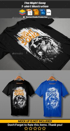 The Night Song T-Shirt Template PSD, Vector EPS, AI. Download here: http://graphicriver.net/item/the-night-song/13781585?ref=ksioks