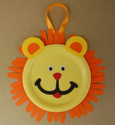 use hand cut outs with lion face, super cute!