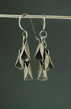 Earrings   Maggie J Designs. Oxidized sterling silver.