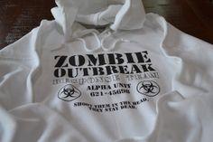 Zombies hoodie for men women teens - Zombie Outbreak Response Team hooded sweatshirt by UnicornTees, $34.99