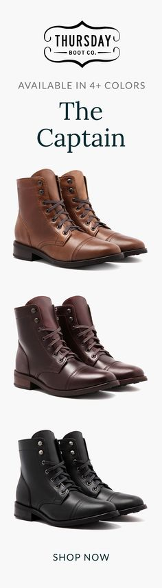 Shop the Women's Captain Boot at thursdayboots.com. Free Shipping & Returns.