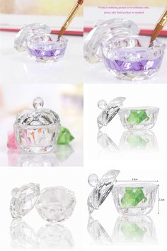 [Visit to Buy] 1PCNail Tools Clear Bow Mini Cup Nail Art Equipment Dish For Makeup Powder And Liquid Acrylic Eight-square Nail Polish Remover #Advertisement